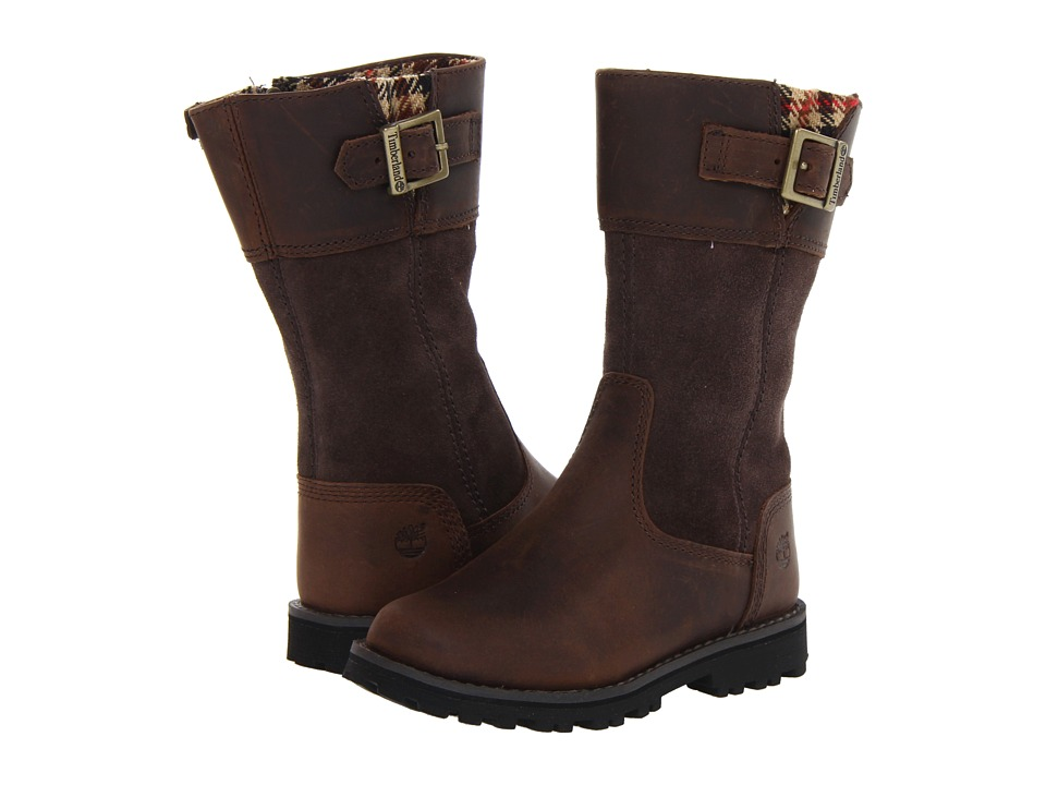 Timberland Kids - Earthkeepers Asphalt Trail Maplebrook Tall Boot (Infant/Toddler) (Brown) Girls Shoes