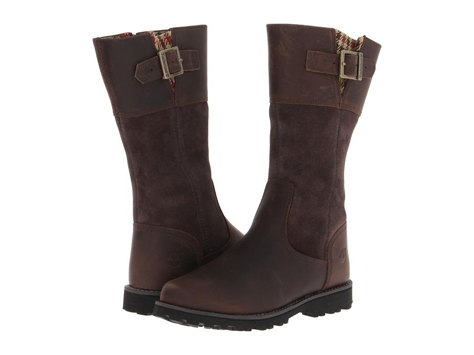 Timberland Kids - Earthkeepers Asphalt Trail Maplebrook Tall Boot (Little Kid) (Brown) Girls Shoes