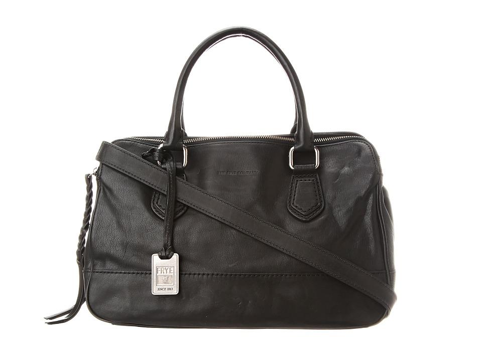 Frye - Jamie Satchel (Black Tumbled Full Grain) Satchel Handbags