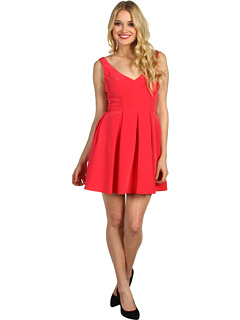 SALE! $69.99 - Save $210 on ABS Allen Schwartz Sleeveless V Neck Flare Dress (Watermelon) Apparel - 75.00% OFF $280.00