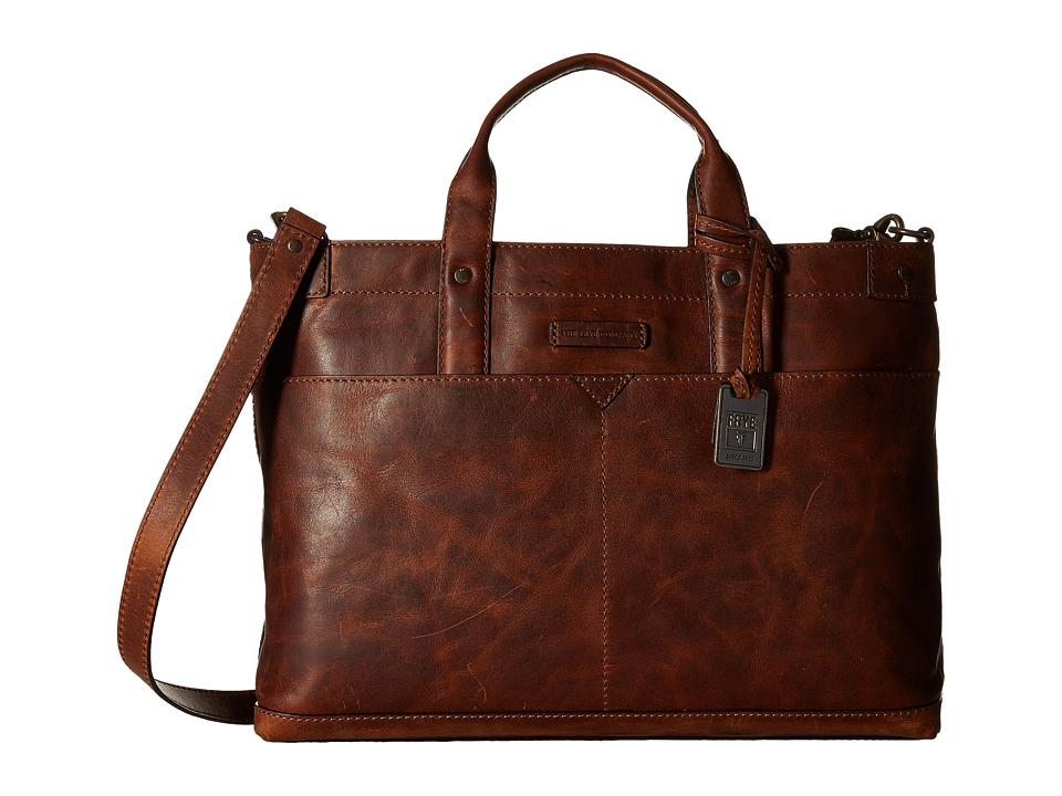 Frye - Logan Zip Top (Cognac Antique Pull Up) Handbags