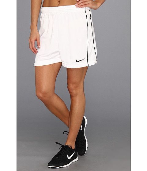 Nike - Academy Knit Short (White/White/Black/Black) Women's Shorts