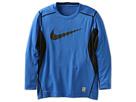 Nike Kids Core Fitted Swoosh Long-Sleeve Top (Big Kids) (Game Royal/Black/Black)