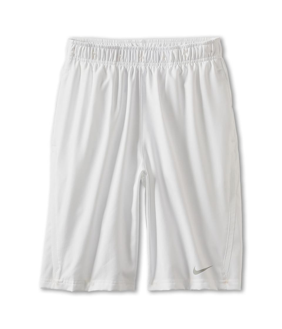 Nike Kids - N.E.T. Short (Little Kids/Big Kids) (White/White/Matte Silver) Boy's Shorts