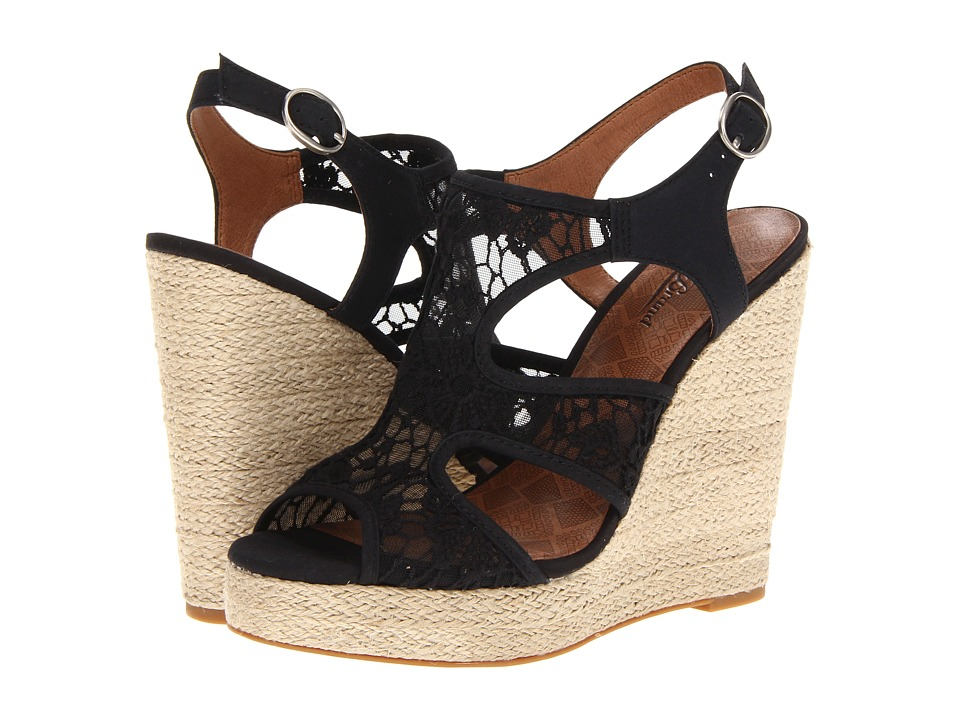 Lucky Brand Riedel Womens Wedge Shoes (Black)