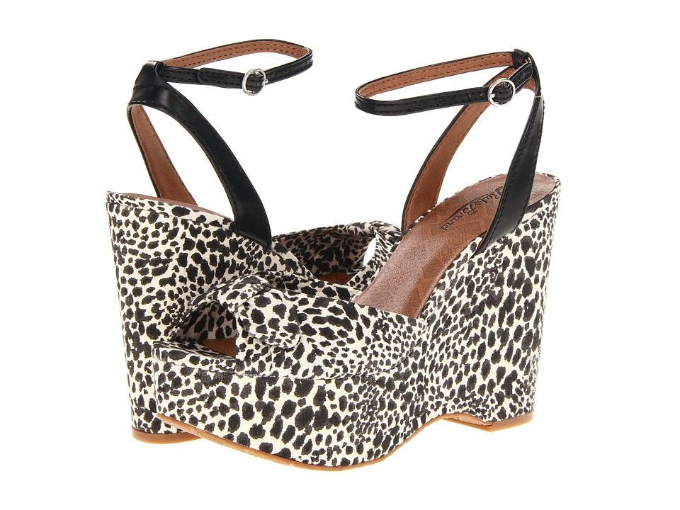 Lucky Brand Viera Womens Wedge Shoes (Animal Print)