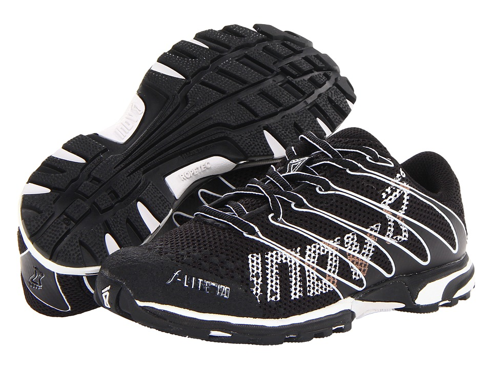 inov-8 - F-Lite 170 (Little Kid/Big Kid) (Black/White) Running Shoes