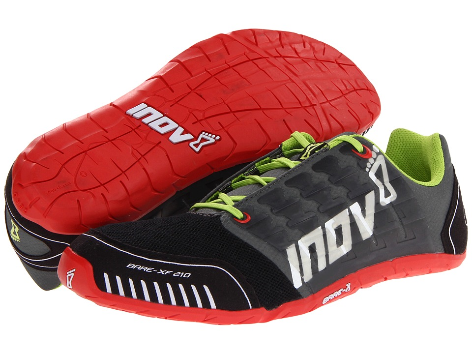 inov-8 - Bare-XF 210 (Forest/Black/Red/Lime) Running Shoes