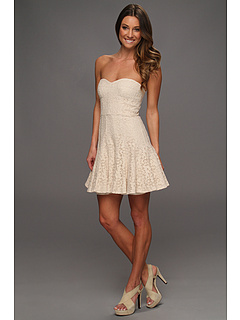 SALE! $164.99 - Save $133 on BCBGMAXAZRIA Lisanne Lace Bustier Dress (Almond Blossom) Apparel - 44.63% OFF $298.00