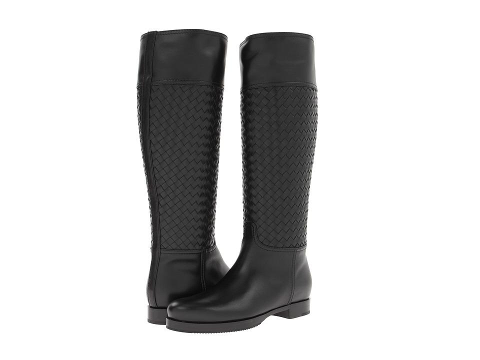 Bottega Veneta - High Top Flat Boot (Nero) Women