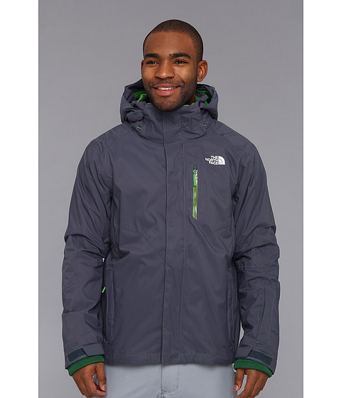 The North Face - Freedom Stretch Triclimate Jacket (Conquer Blue/Conquer Blue/Flashlight Green/Pavilion Green) Men's Coat