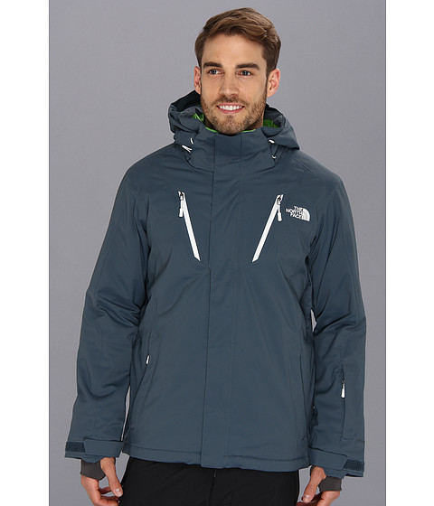 The North Face Bansko Jacket (Conquer Blue/Conquer Blue/TNF White/Flashlight Green) Men's Coat