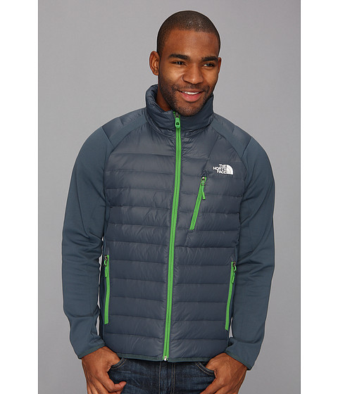 The North Face Hyline Hybrid Down Jacket (Conquer Blue/Conquer Blue/Flashlight Green) Men's Coat