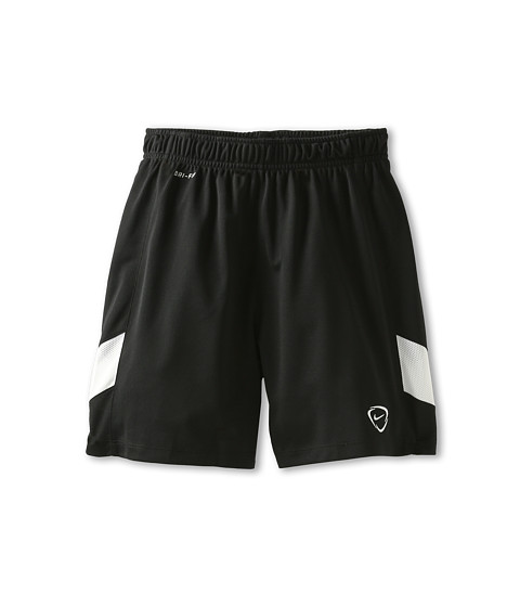 Nike Kids - Academy B Knit Short (Little Kids/Big Kids) (Black/White/White) Boy's Shorts