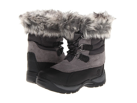 Timberland Kids - Blizzard Bliss Waterproof Snow Boot (Toddler/Little Kid) (Black With Grey) Girls Shoes
