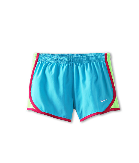 Nike Kids - Tempo Short (Little Kids/Big Kids) (Gamma Blue/Flash Lime/Pink Force/White) Girl's Shorts