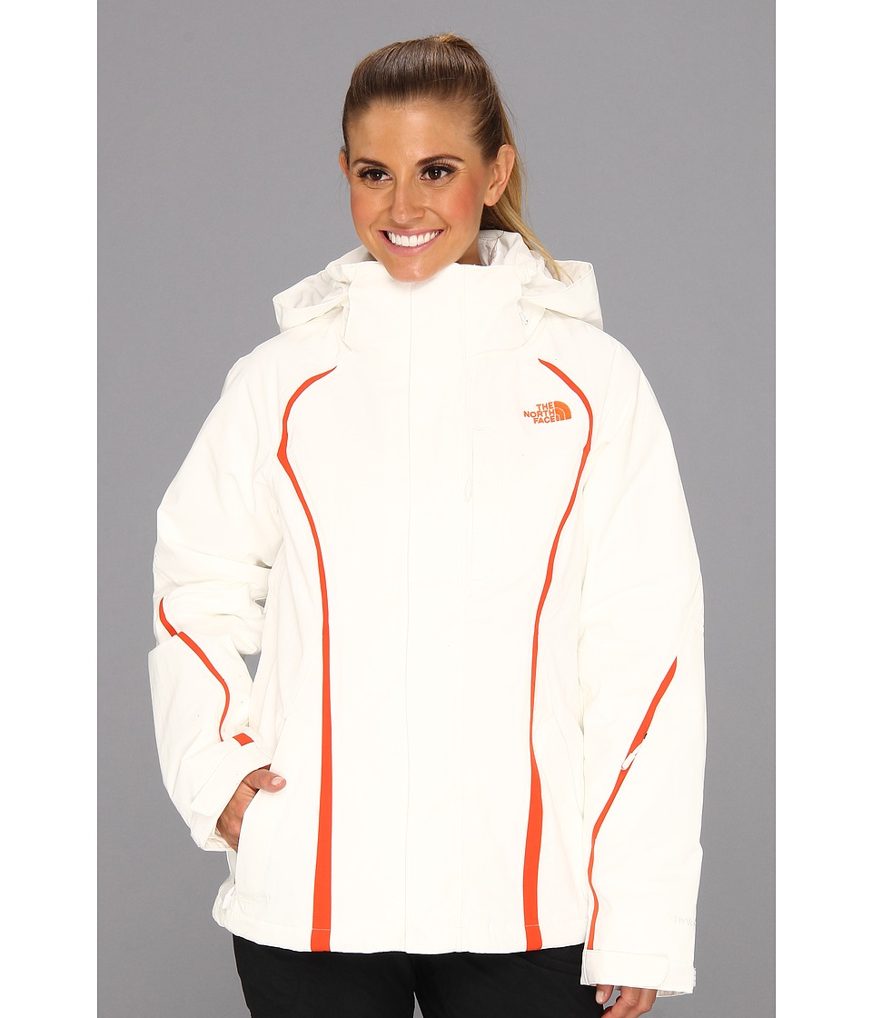 The North Face - Kira Triclimate Jacket (TNF White/TNF White/Spicy Orange/TNF White) Women