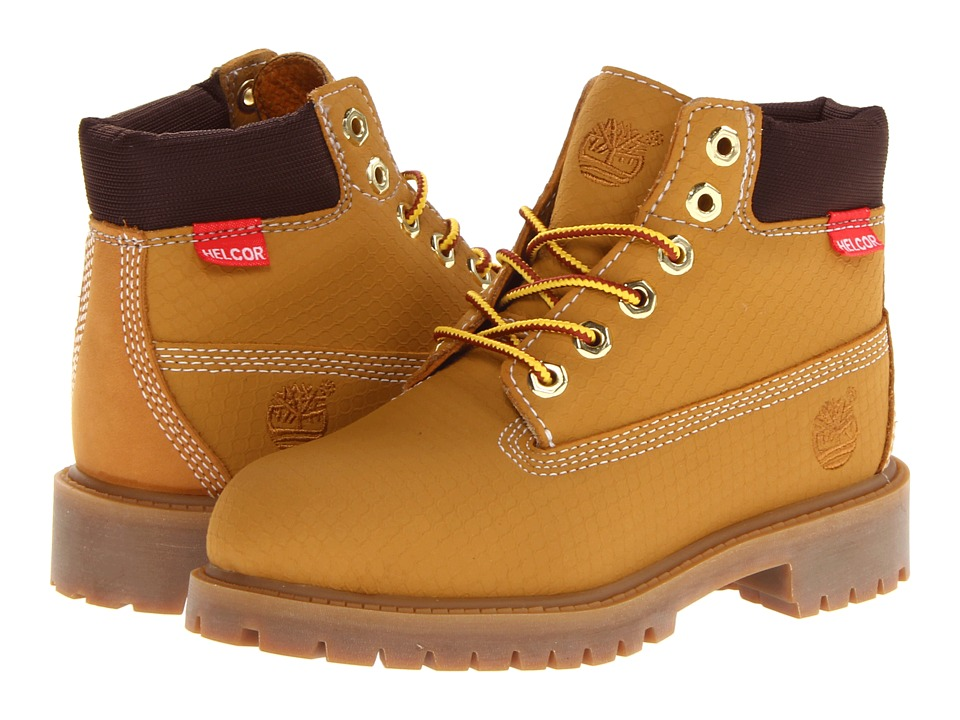 Timberland Kids - 6 Premium Waterproof Scuff Proof II Boot (Little Kid) (Wheat Rebar) Boys Shoes