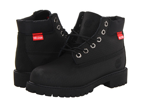 Timberland Kids - 6 Premium Waterproof Scuff Proof II Boot (Little Kid) (Black Rebar) Boys Shoes