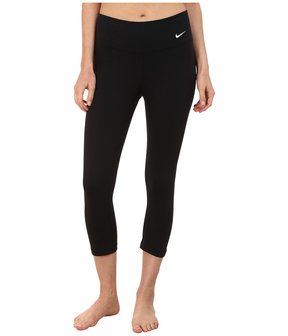 Nike - Legend 2.0 Tight Dri-Fit Cotton Capri (Black/Black/White) Women's Capri