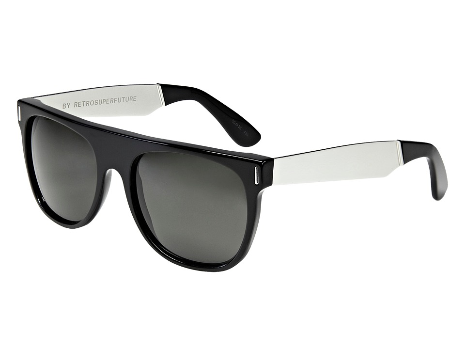 Super - Flat Top (Black/Silver Francis) Fashion Sunglasses