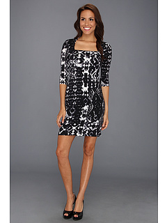 SALE! $36.99 - Save $82 on Karen Kane Square Neck Dress (Print) Apparel - 68.92% OFF $119.00