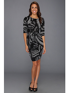 SALE! $49.99 - Save $88 on Karen Kane High Contrast Knotted Dress (Print) Apparel - 63.78% OFF $138.00