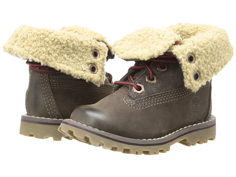 Timberland Kids - Timberland Authentics 6 Shearling Boot (Infant/Toddler) (Dark Brown) Girls Shoes