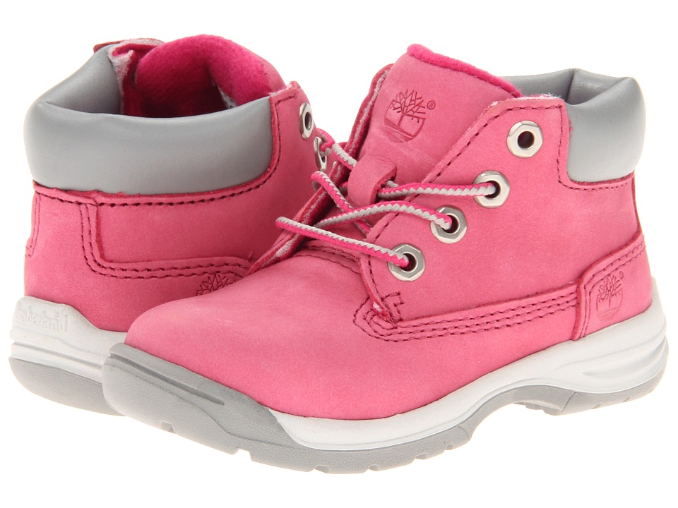 Timberland Kids - Earthkeepers Timber Tykes Lace Boot (Toddler) (Pink) Girls Shoes