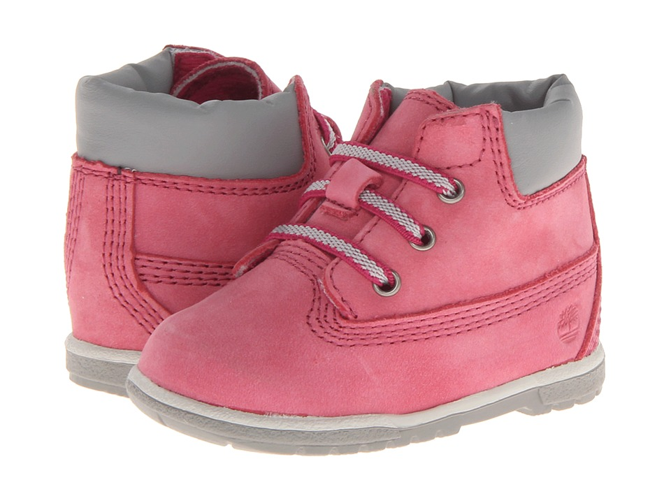 Timberland Kids - 6 Girls Crib Bootie (Infant/Toddler) (Fuchsia Pink) Girls Shoes