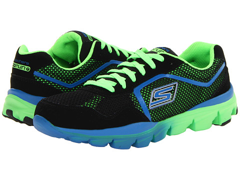 SKECHERS KIDS - GO Run Ride - Supreme 95672L (Little Kid/Big Kid) (Black/Green) Boy's Shoes