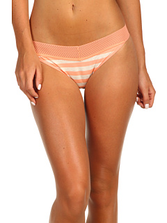 SALE! $15.24 - Save $5 on Splendid Fruit Fusion Mesh Lace Bikini (Papaya Stripe) Apparel - 23.80% OFF $20.00