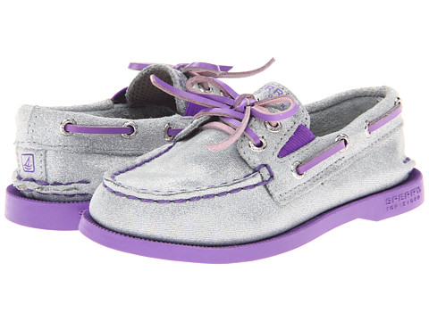 Sperry Top-Sider Kids - A/O Gore (Toddler/Little Kid) (Silver/Purple) Girls Shoes