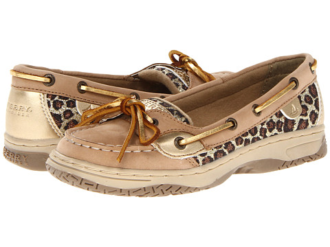 Sperry Top-Sider Kids - Angelfish (Little Kid/Big Kid) (Linen/Gold Leopard) Girls Shoes