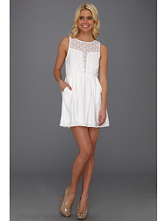 SALE! $71.99 - Save $56 on BCBGeneration Deep Front Cut Dress (White) Apparel - 43.76% OFF $128.00