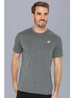 SALE! $14.99 - Save $11 on New Balance Heathered Short Sleeve Tee (Black) Apparel - 42.35% OFF $26.00