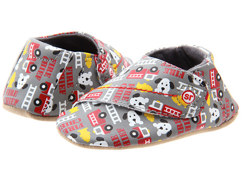 Stride Rite - Crib Print Firetruck (Infant) (Grey/Multi) Boy's Shoes