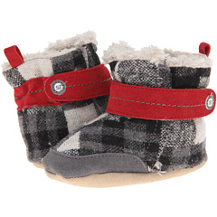 SALE! $16.99 - Save $11 on Stride Rite Crib Sweetie Snuggle Plaid Bootie (Infant) (Grey Black) Footwear - 39.32% OFF $28.00