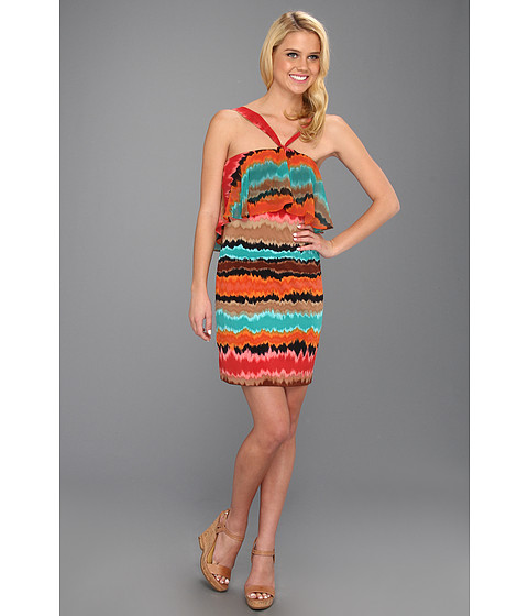 Max and Cleo - Becca Halter Dress (Multi) Women's Dress