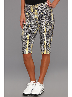 SALE! $34.99 - Save $75 on DKNY Golf Animal Print 24 Knee Capri (Jet Black) Apparel - 68.19% OFF $110.00