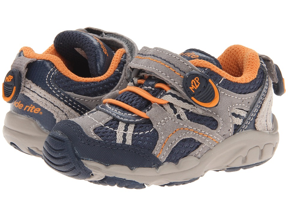 Stride Rite - Made to Play Baby Griffin (Toddler) (Navy/Stone/Orange) Boy's Shoes