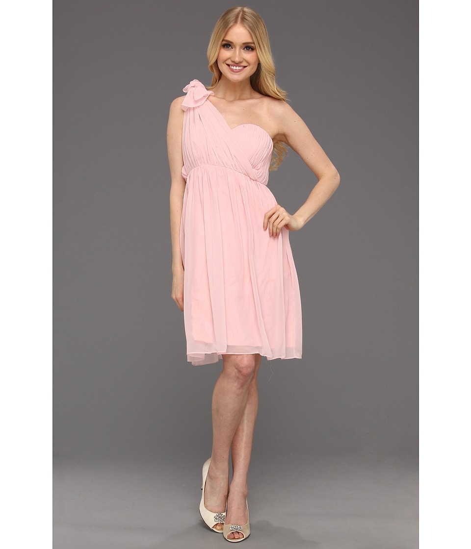 Donna Morgan - Blaire Sweetheart Multi Directional Bustier w/ Skirt Panels (Blush) Women's Dress