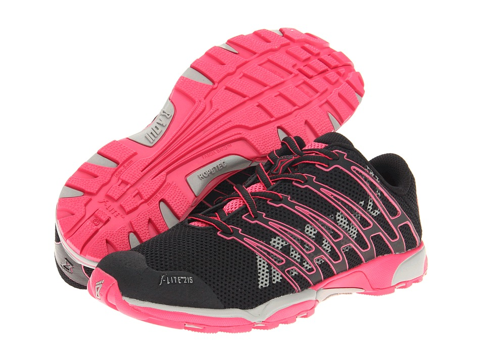 inov-8 - F-Lite 215 (Black/Pink/Grey) Women's Shoes