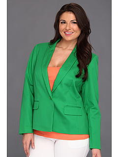 SALE! $71.99 - Save $107 on Anne Klein Plus Plus Size One Button Blazer (Lawn) Apparel - 59.78% OFF $179.00