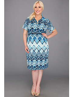 SALE! $59.99 - Save $49 on Anne Klein Plus Plus Size Argyle Print Dress (Capri Multi) Apparel - 44.96% OFF $109.00