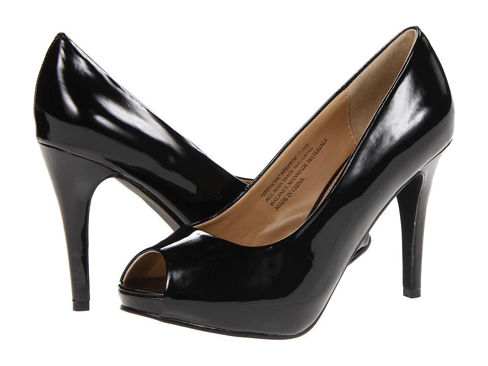 rsvp - Spencer Peep Toe Pump (Black Patent) High Heels