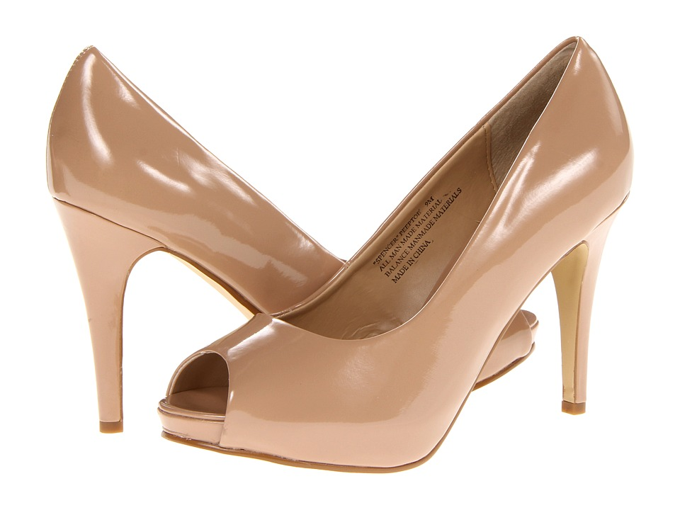 rsvp - Spencer Peep Toe Pump (Nude Patent) High Heels