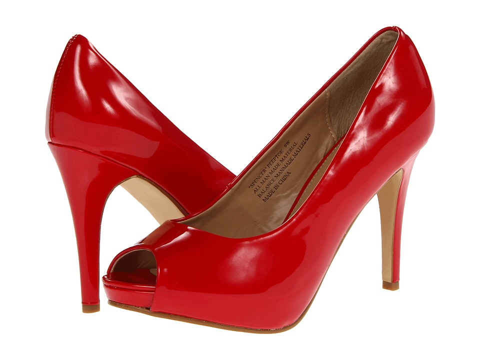 rsvp - Spencer Peep Toe Pump (Red Patent) High Heels