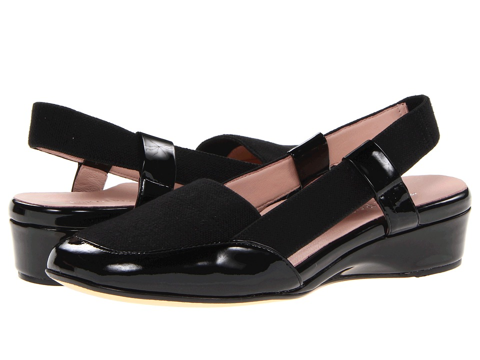 Taryn Rose - Kamille (Black Linen Stretch) Women's Slip-on Dress Shoes