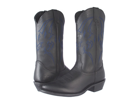 Bates Riding Collection - Bozeman (Black) Cowboy Boots